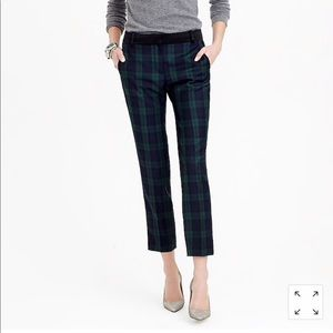 J.Crew Tall Black Watch tuxedo pant